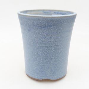 Keramická bonsai miska 11,5 x 11,5 x 13 cm, barva modrá