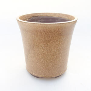 Keramická bonsai miska 12,5 x 12,5 x 12,5 cm, barva béžová