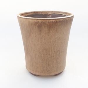Keramická bonsai miska 11,5 x 11,5 x 12,5 cm, barva béžová
