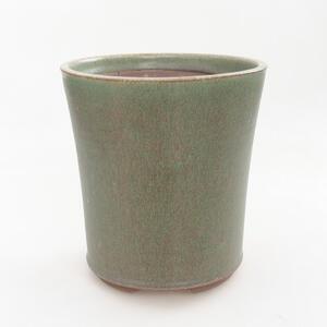 Keramická bonsai miska 14 x 14 x 15,5 cm, barva zelená