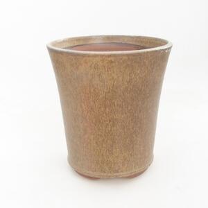 Keramická bonsai miska 15 x 15 x 16,5 cm, barva hnědá
