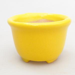 Mini bonsai miska 4 x 4 x 3 cm, farba žltá