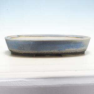 Bonsai miska 40,5 x 31 x 7,5 cm, barva šedomodrá