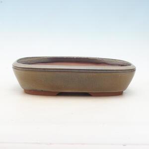 Bonsai miska 28,5 x 20,5 x 7 cm, barva šedohnědá