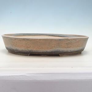 Bonsai miska 45 x 35,5 x 8,5 cm, barva béžovošedá