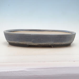 Bonsai miska 37,5 x 29 x 6,5 cm, barva šedomodrá