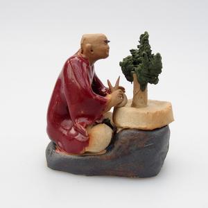 Keramická figurka - Bonsajista, A