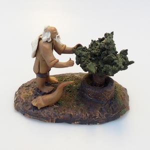 Keramická figurka - Bonsaijista