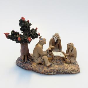 Keramická figurka - Bonsajista