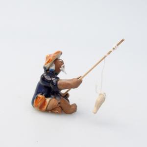 Keramická figúrka - Rybár