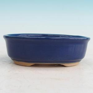 Keramická bonsai miska H 04, modrá