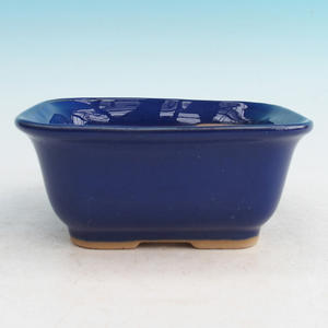 Keramická bonsai miska H 36, modrá