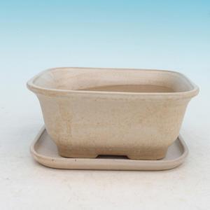 Bonsai miska + podmiska H37, béžová