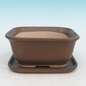 Bonsai miska + podmiska H36, hnědá