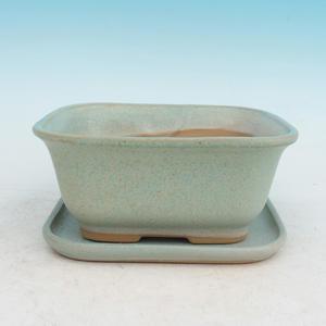 Bonsai miska + podmiska H37, zelená