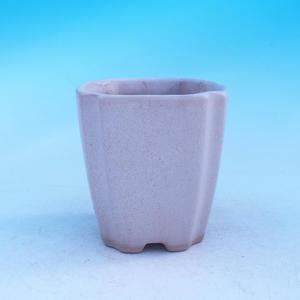 Keramická misa bonsai - kaskáda, béžová
