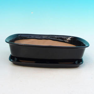 Bonsai miska + podmiska H02, černá