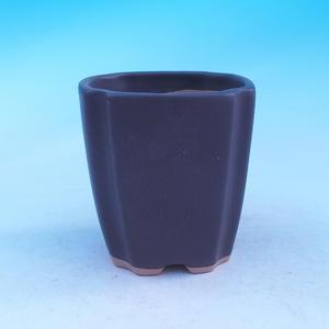 Keramická misa bonsai - kaskáda, čierna matná