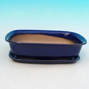 Bonsai miska + podmiska H02, modrá