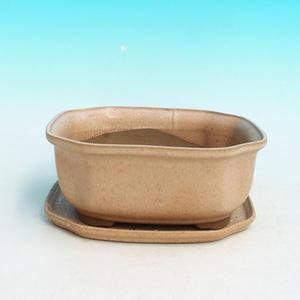 Bonsai miska a podmiska H 31, béžová