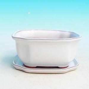 Bonsai miska + podmiska H32, bílá