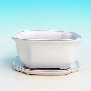 Bonsai miska + podmiska H31, bílá