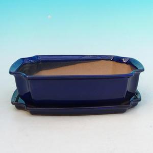 Bonsai miska + podmiska H03, modrá