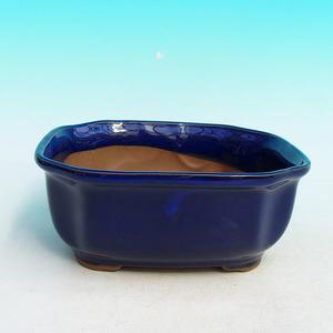 Keramická bonsai miska H 31, modrá