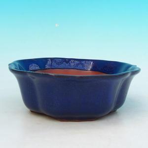 Keramická bonsai miska H 06, modrá