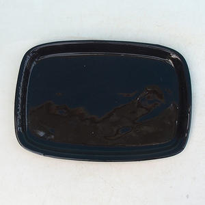 Bonsai podmiska H 02 - 17 x 12 x 1 cm, černá - 17 x 12 x 1 cm
