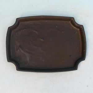 Bonsai podmiska H 03 - 16,5 x 11,5 x 1 cm, hnědá - 16,5 x 11,5 x 1 cm