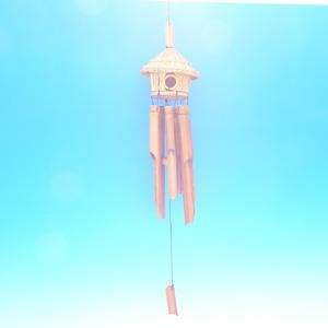 Bambusová zvonkohra 1budka 85 cm