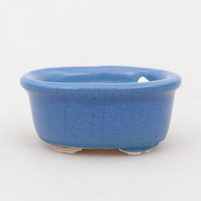Mini bonsai miska 4,5 x 4 x 2 cm, farba modrá - 1