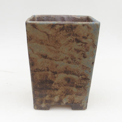 Keramická bonsai miska 2.jakost - 15 x 15 x 19 cm, barva hnědomodrá - 1