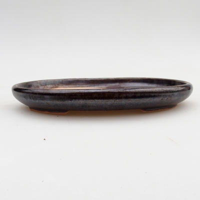 Keramická bonsai miska 2.jakost - 17 x 12 x 2 cm, barva hnědá - 1