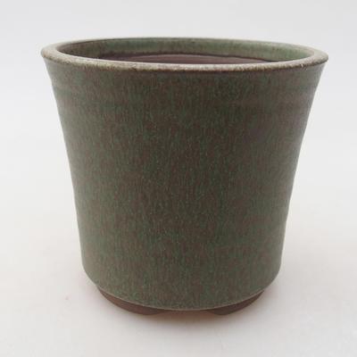 Keramická bonsai miska 9 x 9 x 8,5 cm, farba zelená - 1