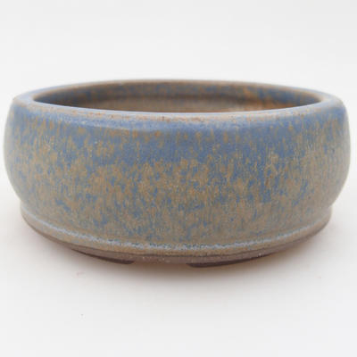 Keramická bonsai miska 10 x 10 x 3,5 cm, barva modrá - 1