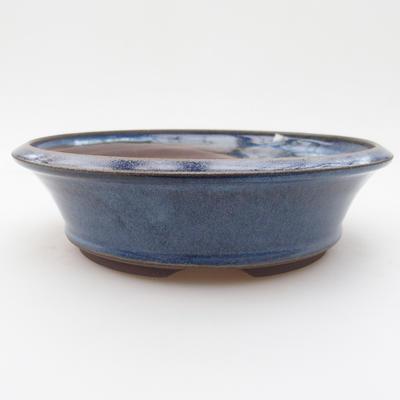 Keramická bonsai miska 17 x 17 x 4,5 cm, barva modrá - 1
