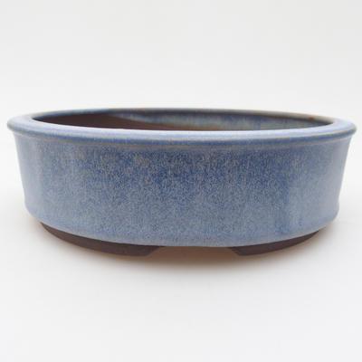 Keramická bonsai miska 16 x 16 x 4,5 cm, barva modrá - 1