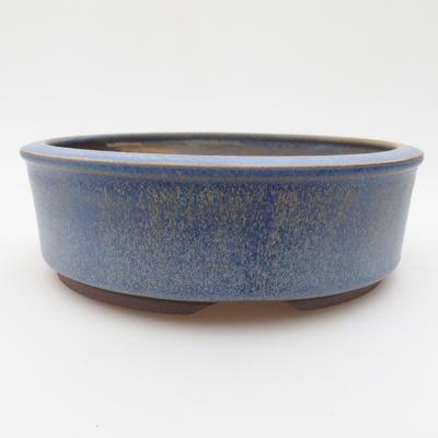 Keramická bonsai miska 16 x 16 x 5 cm, barva modrá - 1