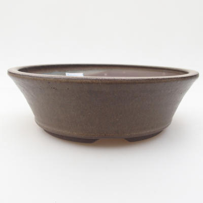 Keramická bonsai miska 17,5 x 17,5 x 5 cm, barva šedá - 1