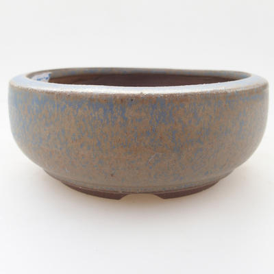 Keramická bonsai miska 10 x 10 x 4 cm, barva modrá - 1