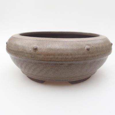 Keramická bonsai miska 17 x 17 x 7,5 cm,barva šedá - 1