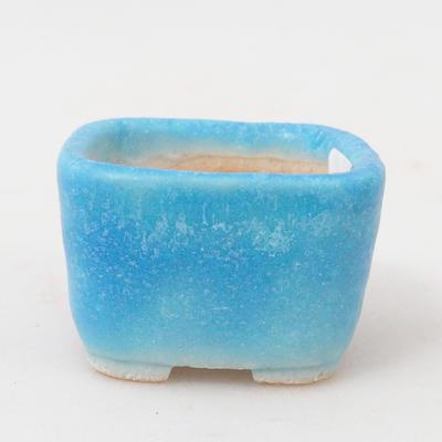 Mini bonsai miska 3,5 x 3,5 x 2,5 cm, farba modrá - 1