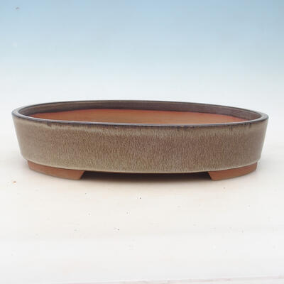 Bonsai miska 34,5 x 25,5 x 7 cm, farba hnedosivá - 1