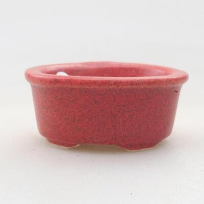 Mini bonsai miska 4 x 3 x 2 cm, farba červená - 1