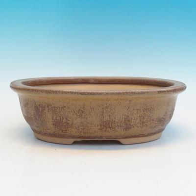 Keramická bonsai miska CEJ 56, světle hnědá - 1