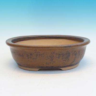 Keramická bonsai miska CEJ 56, tmavě hnědá - 1