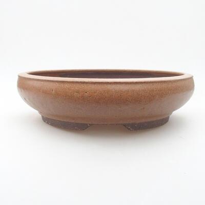 Keramická bonsai miska 24 x 24 x 6 cm, barva hnědá - 1
