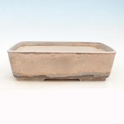 Bonsai miska 38 x 27 x 11 cm, barva šedobéžová - 1
